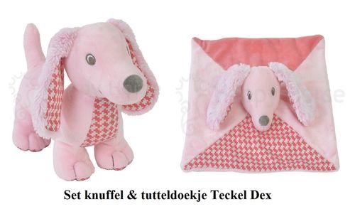 Happy Horse Teckel Dex knuffel en tutteldoekje set/2