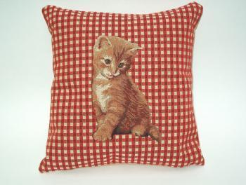 Kussen Red Cat Gobelin small