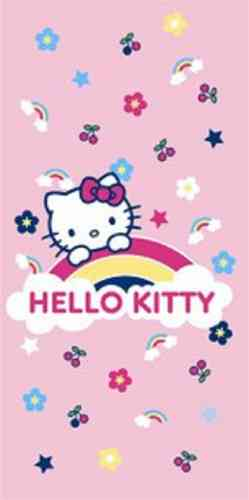 Hello Kitty badlaken Rainbow