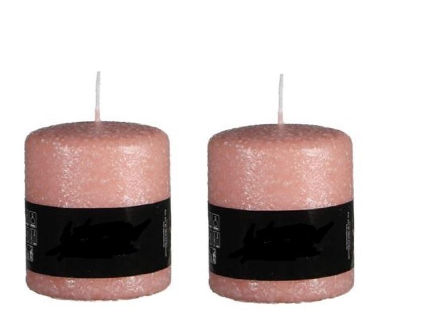 Licht Roze Kaarsen : Kaarsen set roze frosted h total luxury