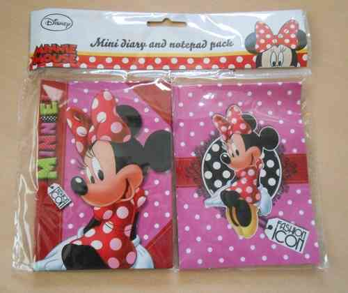 Disney Minnie Mouse mini-dagboekje en notitieboekje