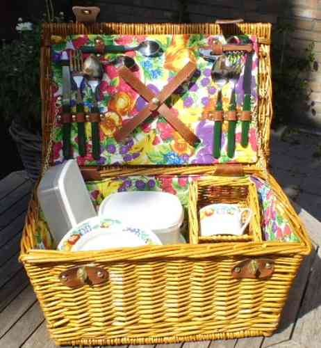 Picknickmand incl. accessoires 2 pers.