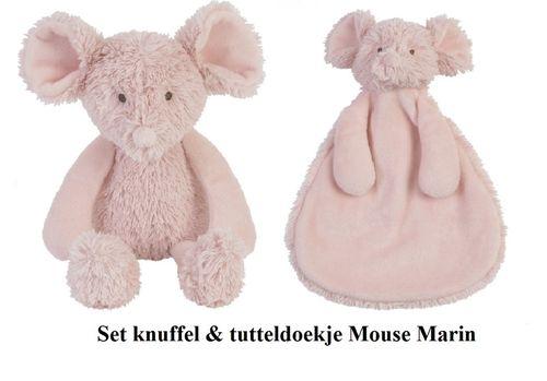 Happy Horse Muis Marin knuffel en tutteldoekje set/2