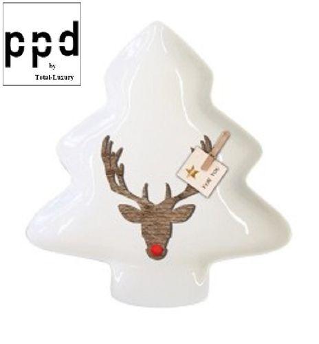 Serveerschaal Rudy Rednose PPD kerst