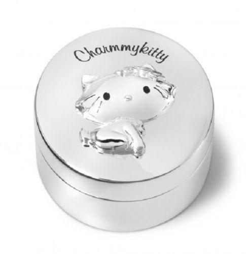Charmmy Kitty tanden- of haarlokdoosje verzilverd