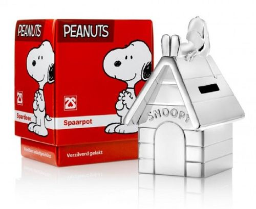 Snoopy spaarpot verzilverd