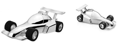 Spaarpot Racewagen verzilverd