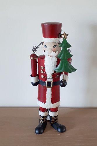Kerstman kerstdecoratie metaal H. 40