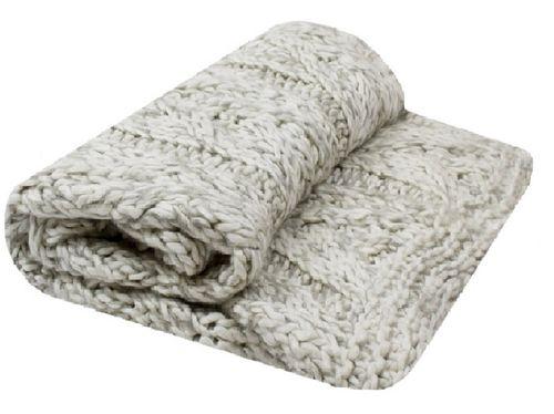 Kleed gebreide deken roomwit