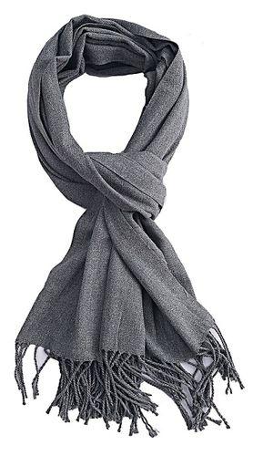 Sjaal Uni grijs