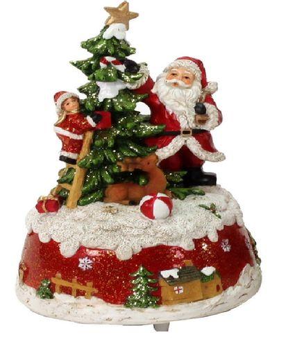 Muziekornament muziekdoos Kerstman