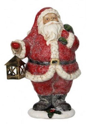 Kerstman met lantaarn kerstdecoratie H.24,5