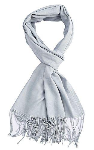 Sjaal Uni lichtblauw