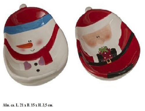 Kerstschaaltjes Kerstman en Sneeuwpop set/2