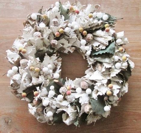 Nieuw Krans winterkrans kerstkrans groen met witte rijp - www.Total CM-06
