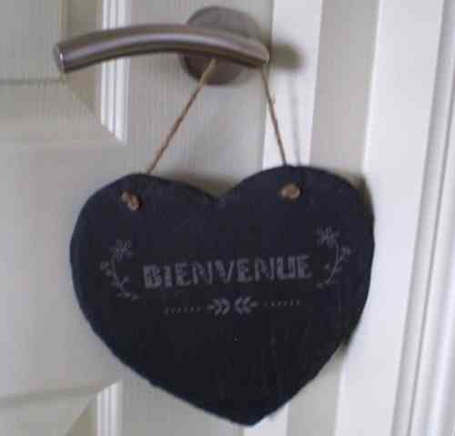 Decoratiehanger hart Bienvenue