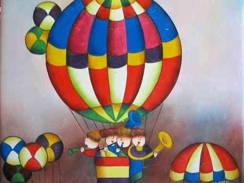 Schilderij Happy balloonflight 50 x 60