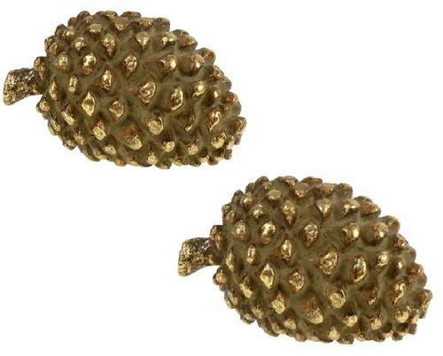 Dennenappel Gold set/2