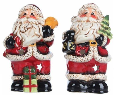 Kerstman waxinehouders set/2
