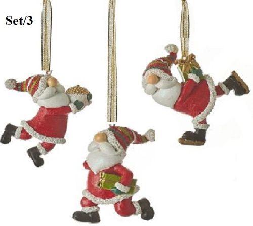 Kersthangers Santa set/3