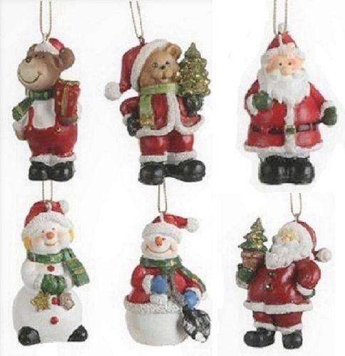 Kerstornamentjes set/6 kersthangers