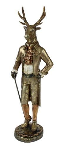 Beeld Mr. Edelhert Gold antique H.54