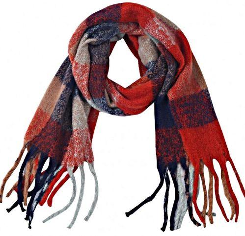 Sjaal Softy ruit rood