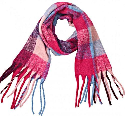 Sjaal Softy ruit blauw rood