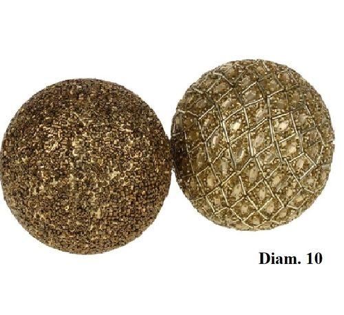 Decoratieve ballen Gold set/2