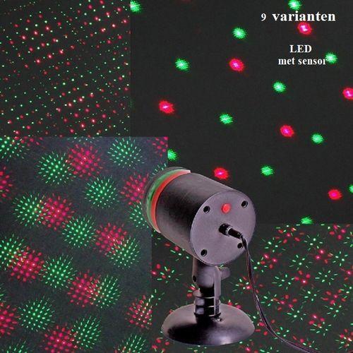 Kerstprojector laserprojector Fireflies lamp met 9 variaties