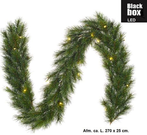 Guirlande Finley LED; geïmpregneerde kerstdecoratie