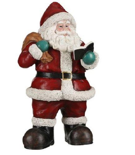 Kerstman met boek kerstdecoratie H.49,5