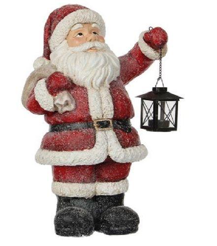 Kerstman met lantaarn kerstdecoratie H.50