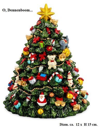 Kerstmuziekdoos Christmastree kerstornament