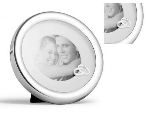Fotolijst Ringen trouwfoto verlovingsfoto verzilverd