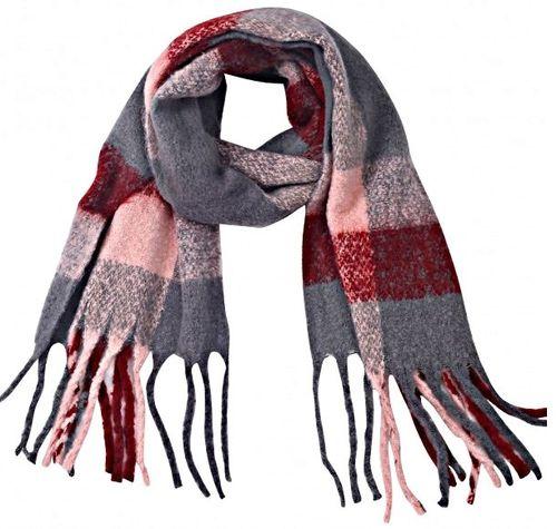Sjaal Softy ruit grijs
