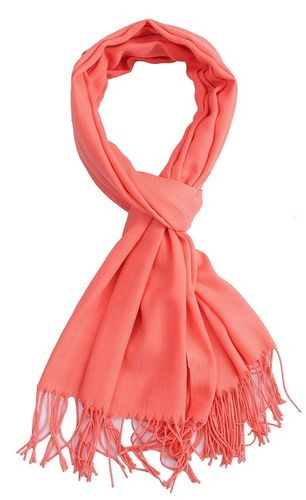 Sjaal Uni Peach oranje
