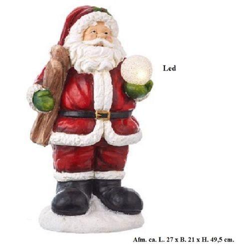 Kerstman met led bol H.49,5