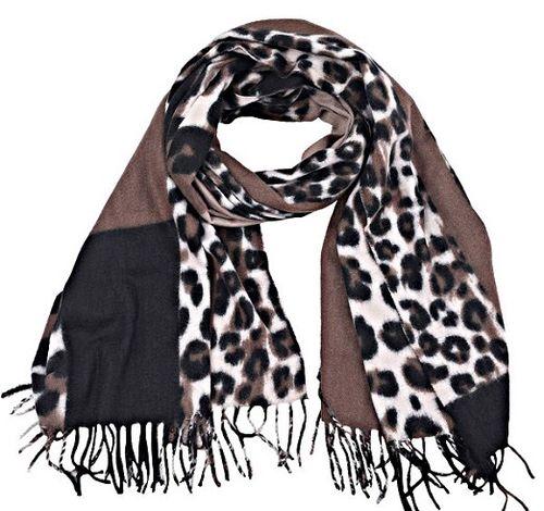 Sjaal Leopard bruin